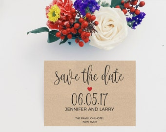Save The Date Template, Printable Save The Date, Rustic Save The Date, Wedding Announcement Template, DIY Save The Date Printable, PDF