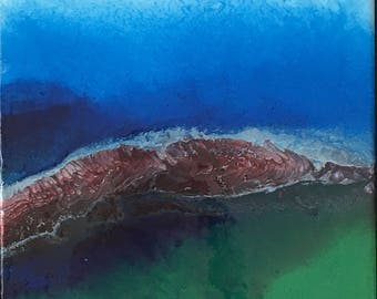acrylic abstract water-scape