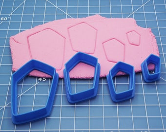 Cutter Set #51 / Polymer Clay Cutters / Clay Shape Tools / Cabochon Shape Tool / Clay Pendant Cutter