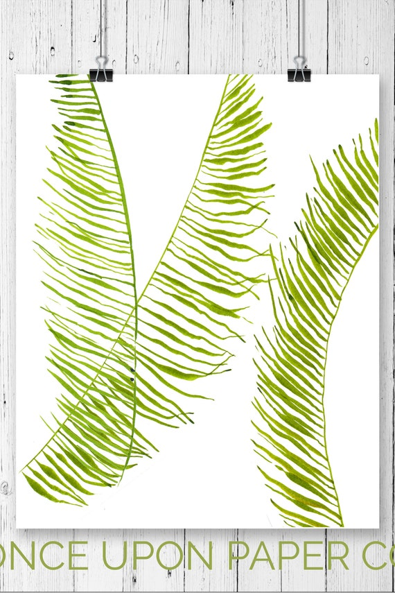 Botanical print Fern Illustration nature print Plant print