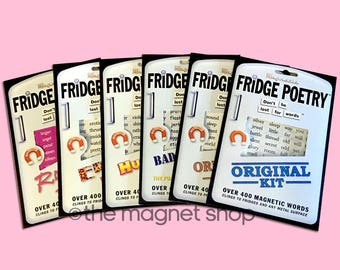 Fridge Poetry Kits Magnetic Words Set Game Gifts Educational Fun Phrases Quotes Prose