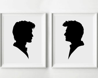 INSTANT DOWNLOAD Doctor Who Print Files Tenth & Eleventh Doctors - Printable Poster, Minimalist Print, TV Print, Digital Art Print