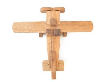 Airplane Puzzle - 3D Interlocking wooden puzzle
