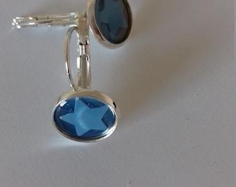 Blue stars earrings