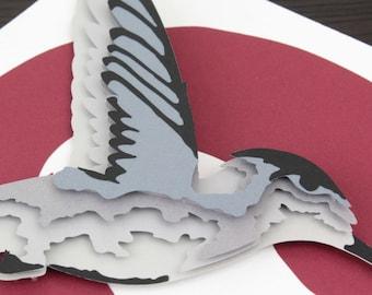 3D Paper Hummingbird in Flight