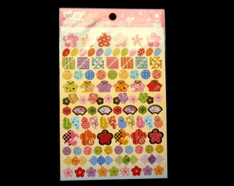 Cherry Blossom Stickers - Japanese Washi Stickers - Traditional Japanese Stickers -  Plum Blossom Stickers S226