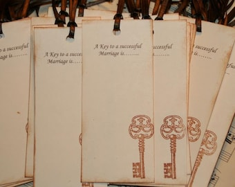 Wedding Wish Tags - Qty 75 - A Key to a successful Marriage is.......Wedding Wish Tree Tags Wedding Favor Tags
