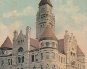 Vintage 1910s Postcard Wichita Kansas City Building Government Architecture Historic City Scenic Illustrated Divided Back Era Postmarked