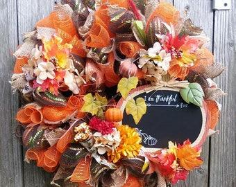 Fall Wreath, Autumn Wreath,Fall Best Door, Wreath,Door Decor Fall Deco Mesh Wreath, Fall Decor, Fall Door Decoration, Fall wreath front door