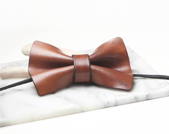 Leather Bowtie, Bow Tie, Gift for Husband, Gifts for Him, Gifts for Men, Boyfriend Gift, Mens Gift