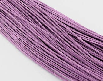 waxed cotton cord 0,7mm lilac medium 10m
