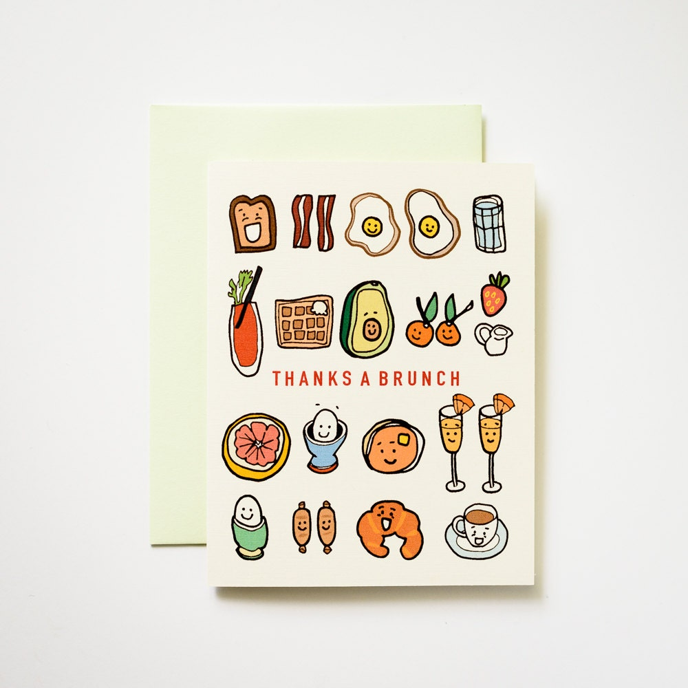 Thanks A Brunch Breakfast And Lunch Greeting Card