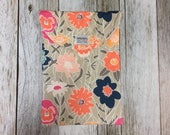 Peach, Navy and Mint Floral Diaper Pod- Diaper Carrier-...