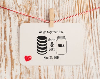 Cookies and Milk Stamp for Wedding Favors Style No. 35W