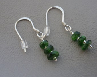 SALE 20% OFF!! Silver earrings with gemstone Chrome diopside - dangling - sterling 925 zilver gift for girl woman
