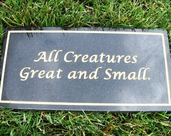 Memorial plaque black granite custom carved up to 30 characters.