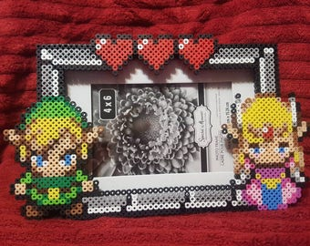 Link and Zelda picture frame