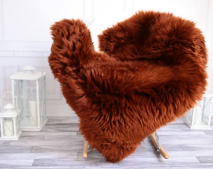 Copper  Sheepskin Rug | Sheepskin throw | Chair Cover |Super Soft Rug | Scandinavian Style | Scandinavian Rug