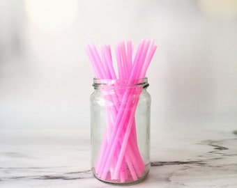 "6"" Pink Cake Pop Sticks - unicorn, girls birthday, baby girl, christening, wedding, hen party, lollipop sticks, birthday party"