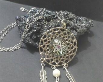 Dreamcatcher Wicca Pagan Jewelry wiccan jewelry witch jewlery pentacle necklace