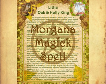 HOLLY & OAK KING Litha Spell  Sabbat Ritual Digital Download, Wicca, Book of Shadows, Ritual, Spell,Pagan, White Magick, Wicca , Witchcraft