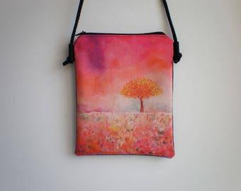 Shoulder bag, crossbody bag, printed bag, little bag, autumn