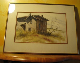 Framed Abandoned House in Field by Thompson