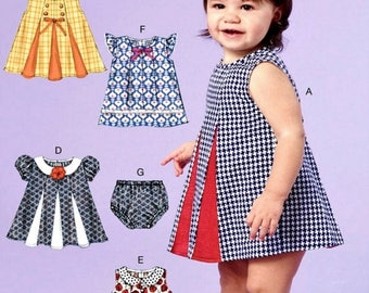 Infants' Dress Pattern, Toddlers' Dress Pattern, Baby Dress and Panties Pattern, McCall's Sewing Pattern 7177