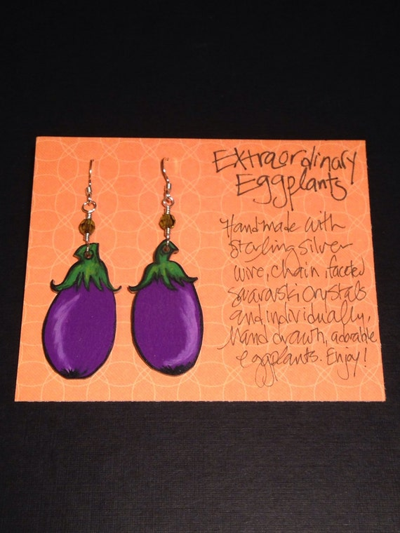 "Earrings ""Extraordinary Eggplants"""