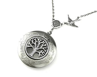 Celtic Locket - Tree of Life Locket Necklace - Woodland Picture locket - Silver Locket Pendant - Picture Locket - Gift Idea for her
