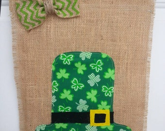 St. Patrick's Day Flag / Luck of the Irish Flag / Burlap Garden Flag / Garden Flag / Yard Flag / burlap flag / st paddy's day flag