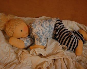 Puppe Waldorf inspiriert Bio Ökologisch plastikfrei Wolle