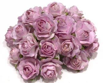 Dusky Pink Open Mulberry Paper Roses Or106