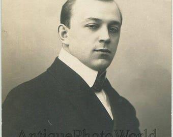 Leonid Sobinov Russian opera singer antique rppc photo