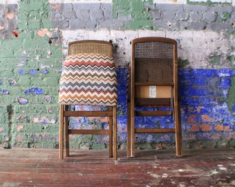 Mid Century Foldable Wicker Chairs by Stakmore Company