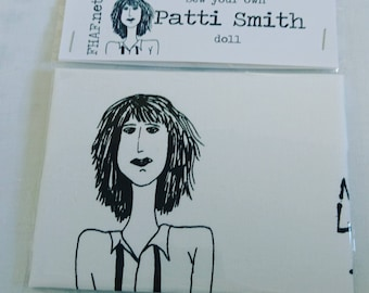 Sew your own PATTI SMITH doll, doll kit, craft, music fan
