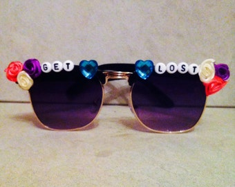 GET LOST sassy custom made sunglasses