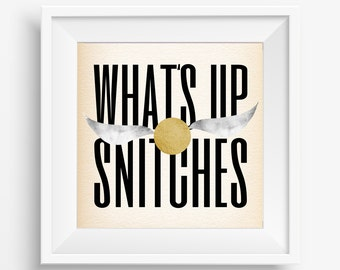 What's Up Snitches - Harry Potter art print