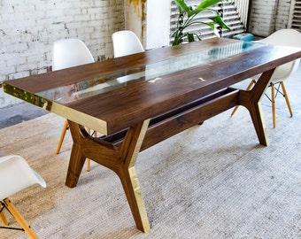 Walnut Dining Table Midcentury Modern Modern Dining Table - Mid century modern conference table