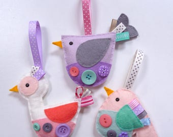 Birds - Large Kit - Felt sewing kit