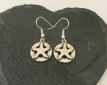 Starfish earrings / starfish jewellery / animal lover gift / beach jewellery / sea life jewellery