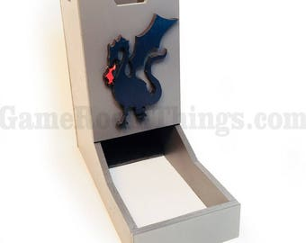 Dragon Dice Tower, Dice Tower, Wood Dice Tower, Dragon, Medieval Dice Tower, Dice, Medieval