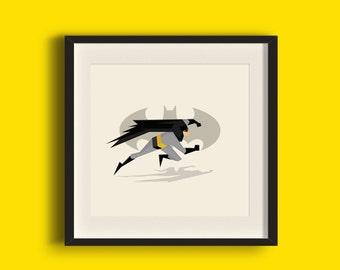 The Bat Superhero Art Print