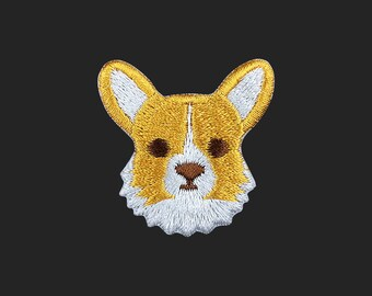 corgi patch dog patch embroidered patch iron on patch bag patch hat patch gift