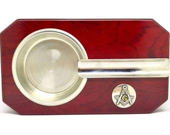 Mason Cigar Ashtray – Metallic