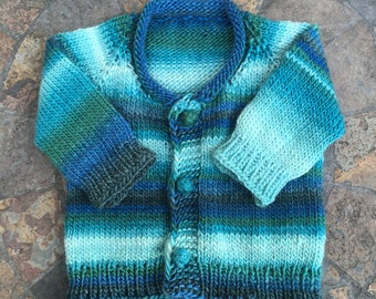 Soft sweater in blues for toddler