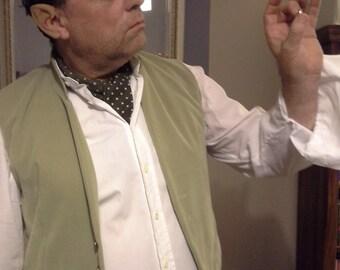 Sage Green Velvet Waistcoat. Hobbit Waistcoat. Bilbo Baggins-Inspired. Velvet Jerkin. LOTR Cosplay.