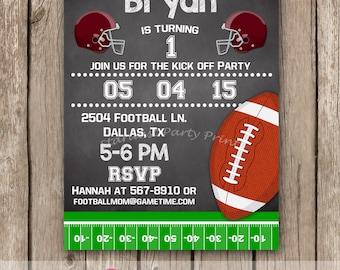 Football Birthday Invitation, Football Invitation