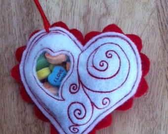 Valentine Candy Heart Embroidery File for 4x4 pes, jef, hus, xxx, exp files
