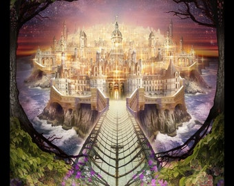 Lost Lands of Imagination - The Realm of Faerie - Art Print by Brian Giberson